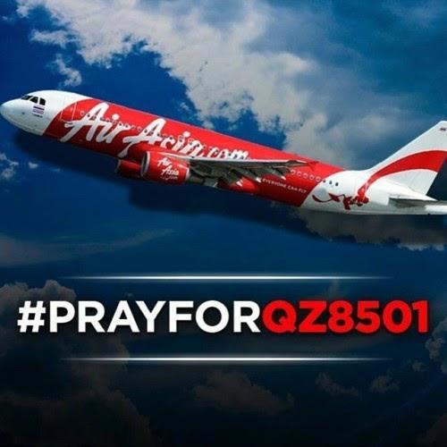 Kehilangan Pesawat AirAsia QZ 8501 dari Surabaya ke Singapura