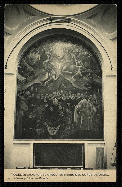 Entierro del Señor de Orgaz. Hauser y Menet, 1908