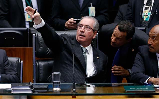 GALERIA DA SEMANA - ABRIL 03 - DOMINGO, 17.abr/2016 - Brasília - O presidente da câmara dep. Eduardo Cunha (PMDB-RJ) preside a sessão