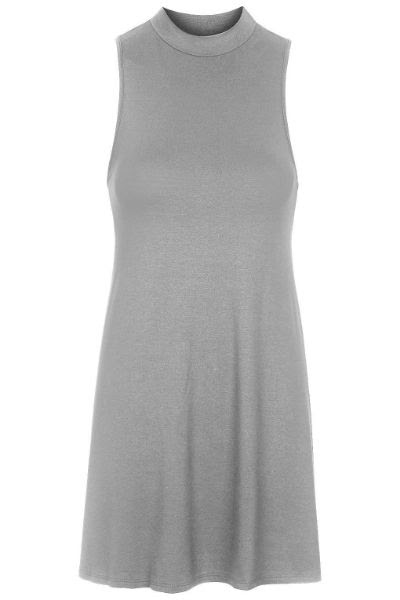 Topshop High Neck Flippy Tunic