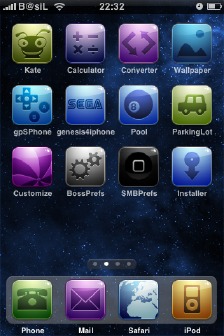 Spacecamtessa iPhone Theme 2