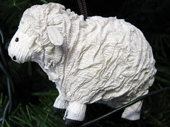 Paper maché sheep