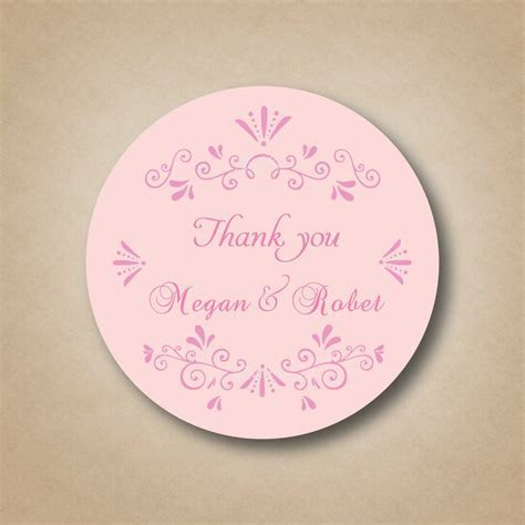 Personalized Pink Wedding Party Favor Labels ,Stickers
