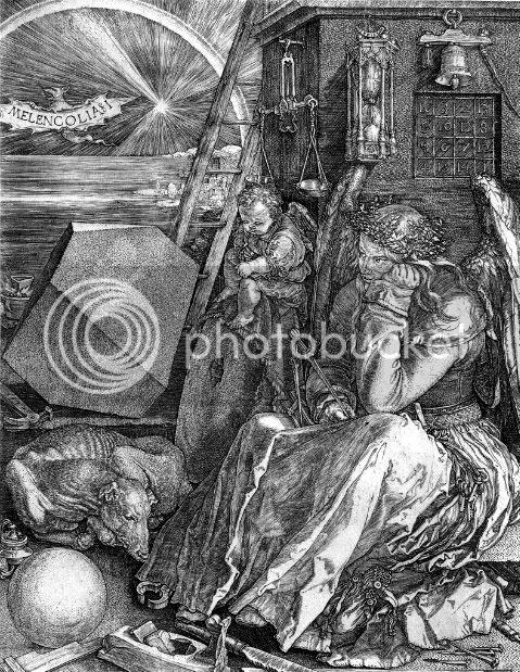 Melancolia I Painting by Albrecht Durer