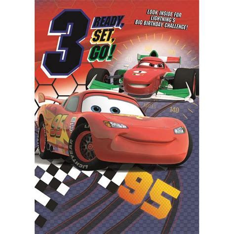 3rd Birthday Disney Cars Activity Birthday Card (25455770