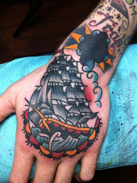 job stopper hand tattoo school traditional clipper