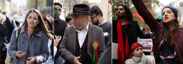 Siobhan Benita, George Galloway and Lindsey Garrett
