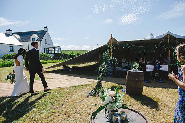 Ballintoy stretch tent wedding - Ariana & Matt