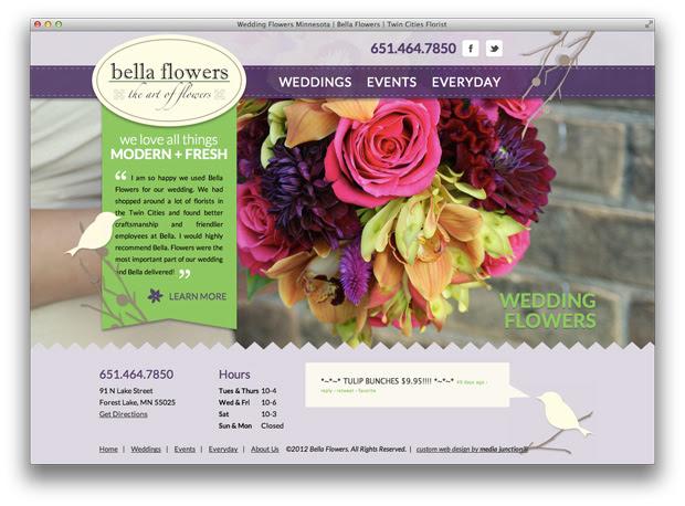 a wedding flowers website