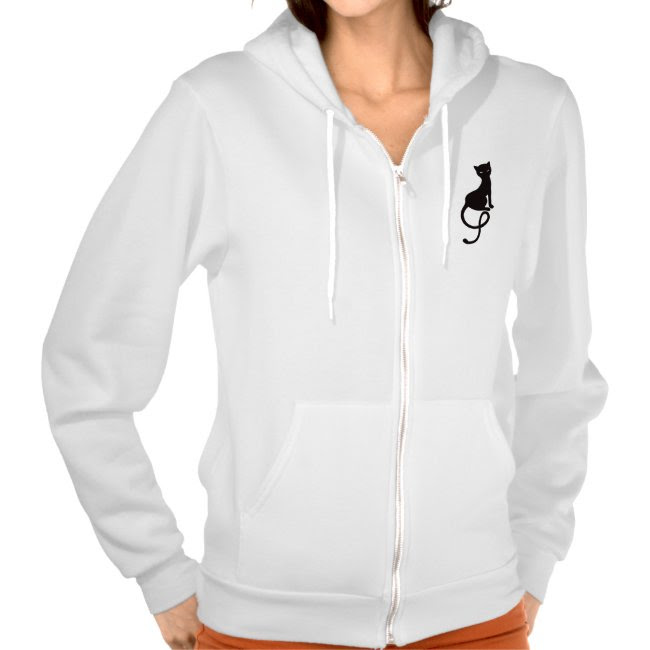 Gracious Evil Black Cat Female Hoodie