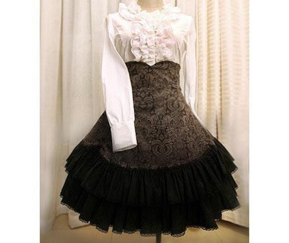 corduroy high waist skirt