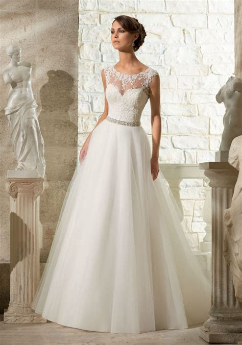 Lace Appliques on Soft Tulle Morilee Wedding Dress   Style