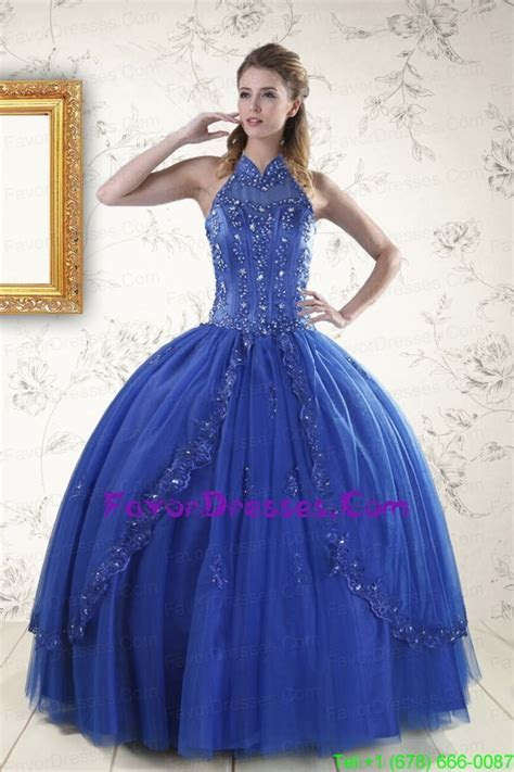 Luxurious Royal Blue 2015 Quinceanera Dresses with
