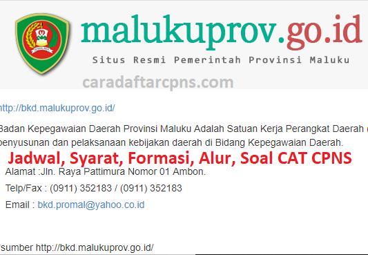 Pengumuman Skd Cpns Pemprov Maluku 2021 Soal Skd Skb Pdf