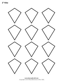 Free Kite Templates   Blank Kite Shapes to Print   Printable PDF