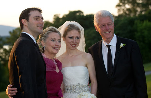 Marc and Chelsea with Bill and Hillary