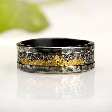 Man rings, Men wedding band, 24K Gold & Silver Men's