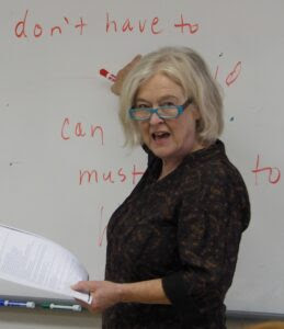 Patricia Brown teaches English as a second language at San Mateo Adult School.
