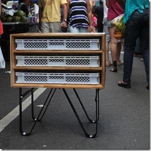 Mini-aparador da Linha José com madeira Teka