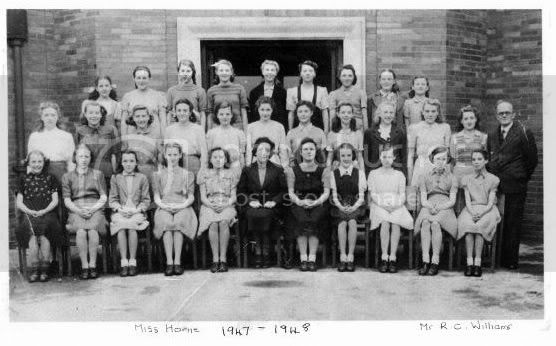 Class 3A taken in October 1946 at Flowery Field Secondary School