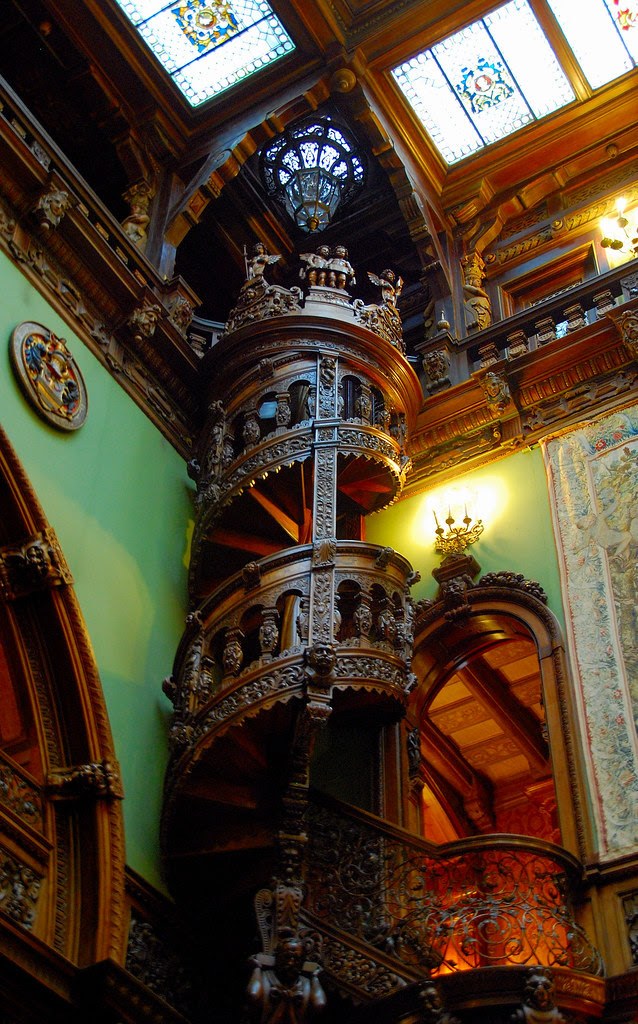 3 Romanian Castles You Must Visit At Least Once In Your Lifetime. Peles Castle spiral staircase