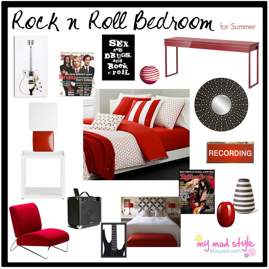 Design Board - Rock n Roll Bedroom