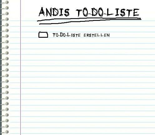 Andis To-Do-Liste