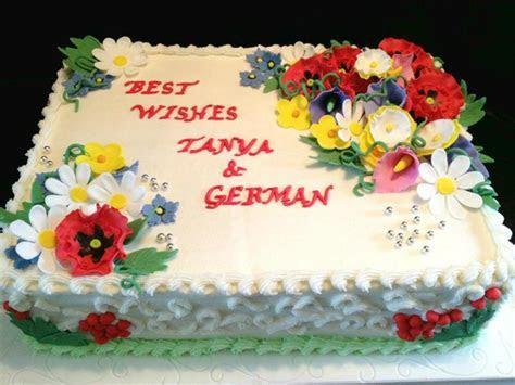 Sheet Cake For A Traditional Ukrainian Bridal Shower