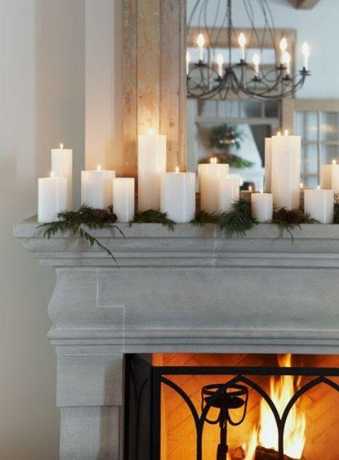 Pretty Christmas mantel by margie