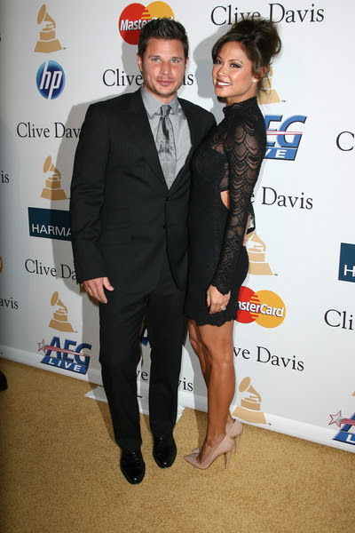 Nick Lachey and Vanessa Minnillo Pictures: Clive Davis Pre-Grammy Party 2011 Photos and Pics