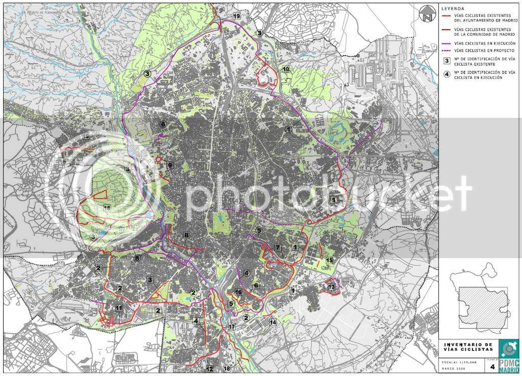 Inventario de vías ciclistas existentes