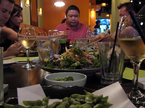 Tuna and Salmon Sashimi Salad