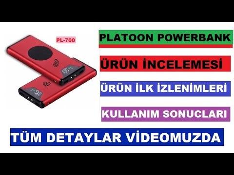 Kablosuz Powerbank PLATOON PL-700 (wireless) 10000mah 2usb  ürün incelemesi ve kullanım sonucları
