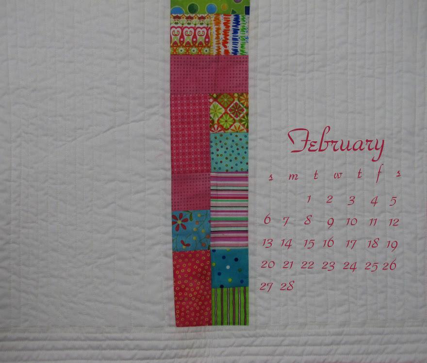 February calendar - pretty in pink