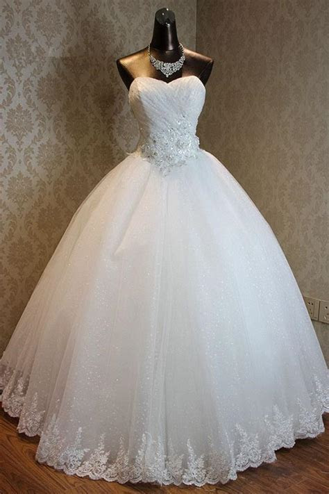 Lace Up Sweetheart Ball Gown Princess Bridal Dresses