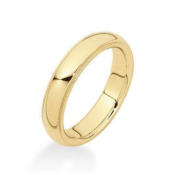 14k Gold Milgrain Wedding Band (5mm)   Betteridge