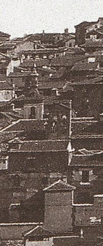 Iglesia de San Justo en 1857. Foto Charles Clifford (Detalle)