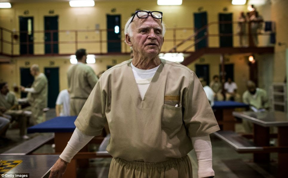 Old enough to know better: Nathan Brown is one of the oldest prisoners at Rhode Island's John J. Moran Medium Security Prison at 75