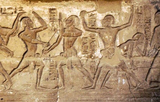 Egyptian Stick Fencers