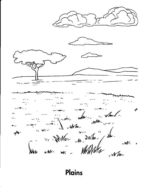 animal habitats coloring pages   printable