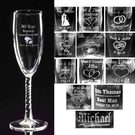 Personalized Toasting Flutes   Champagne Glasses Engraved