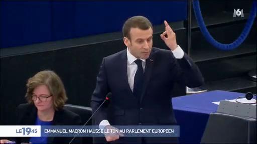 """Résultat de recherche d'images pour """"colere Macron parlement Strasbourg"""""""
