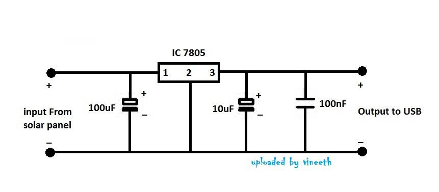 make your own solar mobile charger circuit diagram 5v voltage regulator ccuart Gallery