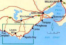 Peta Great Ocean Road, Australia