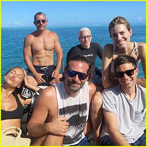 Irina Shayk & Bradley Cooper Vacation with Celeb Friends in Tahiti (Photos)