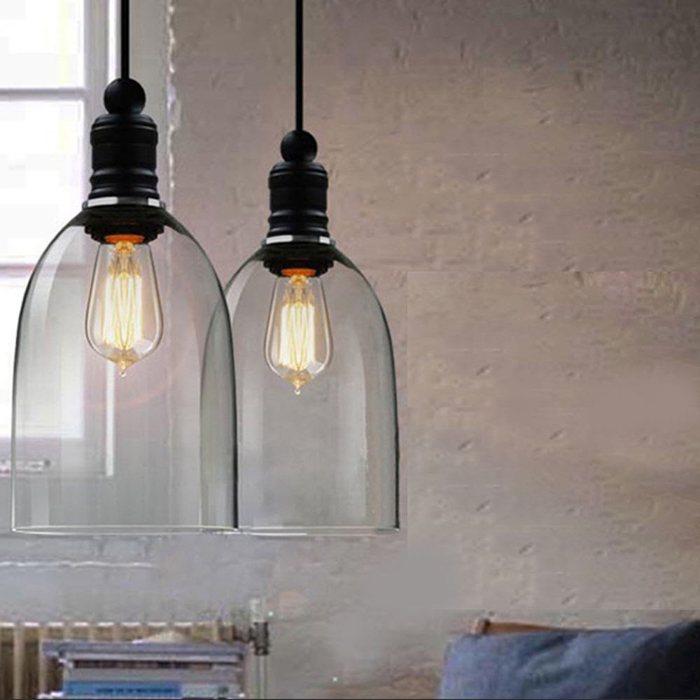 Kitchen Decor Vintage Retro Ceiling Light Glass Pendant Lamp Chandelier Lighting  eBay