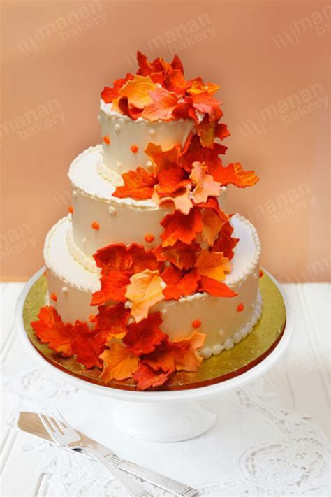 Wedding Cake Rainy Autumn   Las Vegas   Wedding Cakes