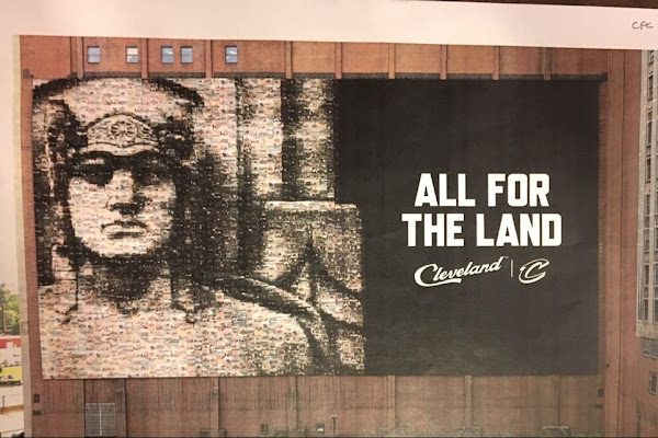 654ff19fe59 Here s how Cleveland Cavaliers fans can be part of the mosaic replacing the LeBron  James banner