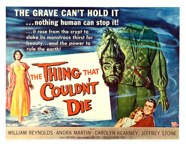 Reynold Brown - The Thing That Couldn't Die (Universal International, 1958) half sheet