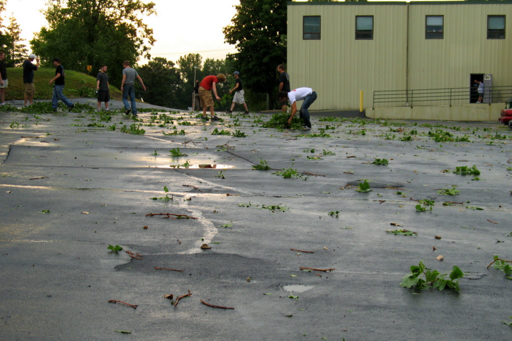a powerful storm hit the twin cities area on july 11. photo of the aftermath.